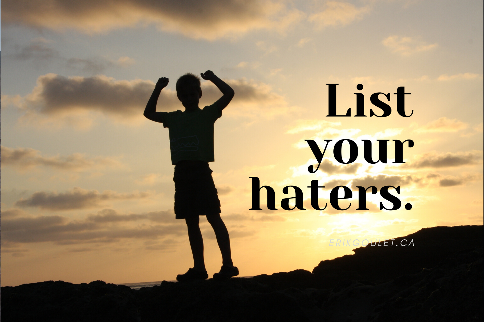 list your haters